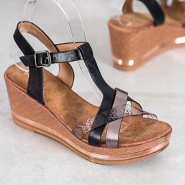 Evento Elegant Wedge Sandals black 1