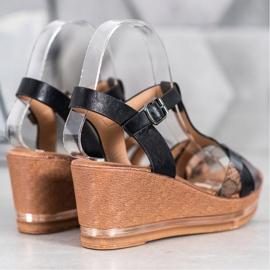 Evento Elegant Wedge Sandals black 2