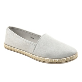 Gray Slip-on Espadrilles D1K-6 grey 1