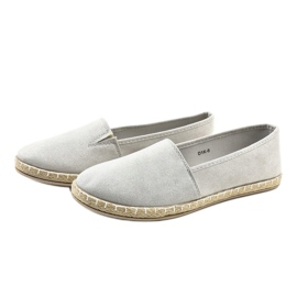 Gray Slip-on Espadrilles D1K-6 grey 2