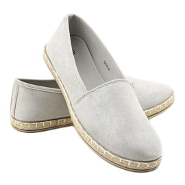 Gray Slip-on Espadrilles D1K-6 grey 3