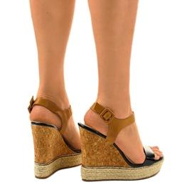 Black sandals on espadrilles VB76063 wedge heels 3