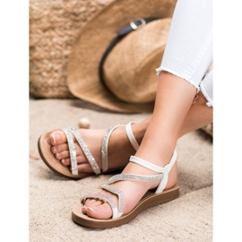 Sea Elves Elegant Slip-on Sandals white 1