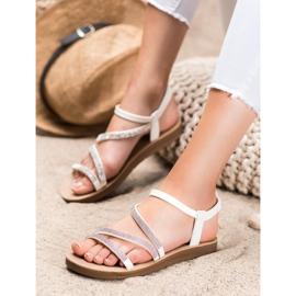 Sea Elves Elegant Slip-on Sandals white 3