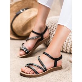 Sea Elves Elegant Slip-on Sandals black 1