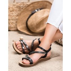 Sea Elves Elegant Slip-on Sandals black 3