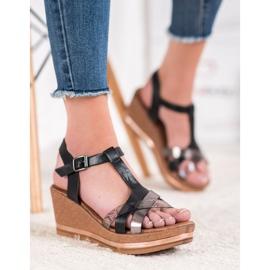 Evento Elegant Wedge Sandals black 3