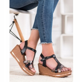 Evento Elegant Wedge Sandals black 4