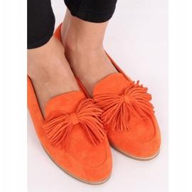 Women's loafers with tassels orange T357P Orange 2