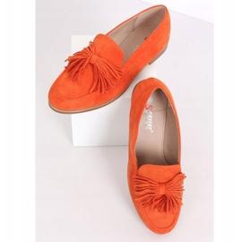 Women's loafers with tassels orange T357P Orange 4