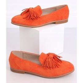 Women's loafers with tassels orange T357P Orange 1