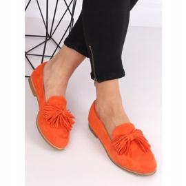 Women's loafers with tassels orange T357P Orange 3