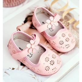Apawwa Children's Flats Velcro Flower Pink Flored 2