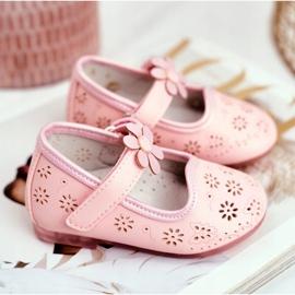 Apawwa Children's Flats Velcro Flower Pink Flored 3