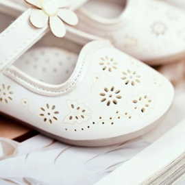 Apawwa Children's ballerinas on Velcro Kwiatuszek White Flored 4