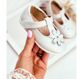 Apawwa Baby Ballerinas with Velcro Flower Silver Antrela grey 1