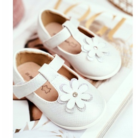 Apawwa Baby Ballerinas with Velcro Flower Silver Antrela grey 2