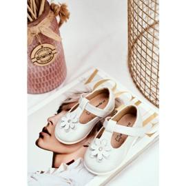 Apawwa Baby Ballerinas with Velcro Flower Silver Antrela grey 5