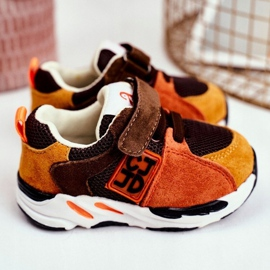 Apawwa Sport Children's Shoes with Velcro Brown Jonaba orange multicolored yellow 1