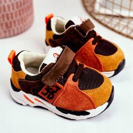 Apawwa Sport Children's Shoes with Velcro Brown Jonaba orange multicolored yellow 3