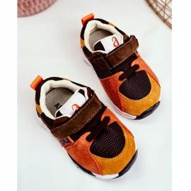 Apawwa Sport Children's Shoes with Velcro Brown Jonaba orange multicolored yellow 4