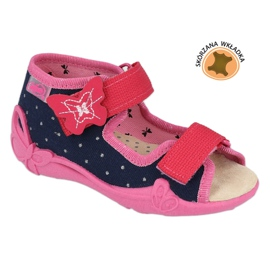 Befado yellow children's footwear 342P015 navy pink multicolored 1