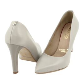Comfortable women's pumps Arka 5254 grey 3