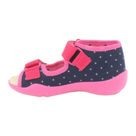 Befado yellow children's footwear 342P015 navy pink multicolored 2