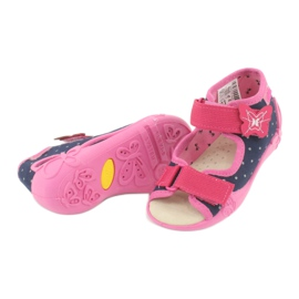 Befado yellow children's footwear 342P015 navy pink multicolored 4