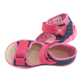 Befado yellow children's footwear 342P015 navy pink multicolored 5