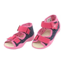 Befado yellow children's footwear 342P015 navy pink multicolored 3