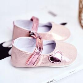 Apawwa Children's Sneakers Velcro Baptism Pink Bellawa 3