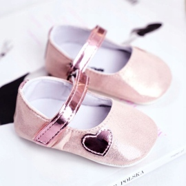 Apawwa Children's Sneakers Velcro Baptism Pink Bellawa 1