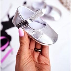 Apawwa Children's Sneakers with Velcro Baptism Silver Bellawa grey 1