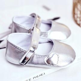 Apawwa Children's Sneakers with Velcro Baptism Silver Bellawa grey 2