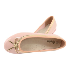 American Club Lacquered ballerinas american 14297 pink yellow 4