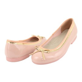 American Club Lacquered ballerinas american 14297 pink yellow 3