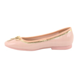 American Club Lacquered ballerinas american 14297 pink yellow 1