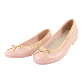American Club Lacquered ballerinas american 14297 pink yellow 2