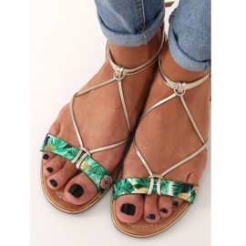Women's green sandals JH125P Green 3