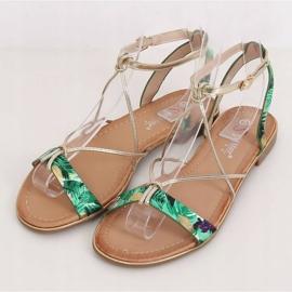 Women's green sandals JH125P Green 1
