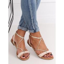 Beige women's sandals JH125P Beige 4