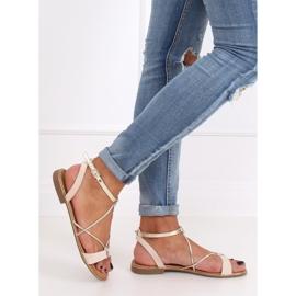 Beige women's sandals JH125P Beige 3