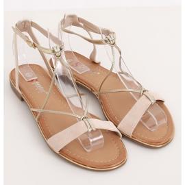 Beige women's sandals JH125P Beige 1