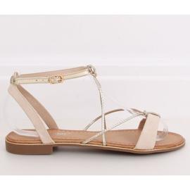 Beige women's sandals JH125P Beige 2