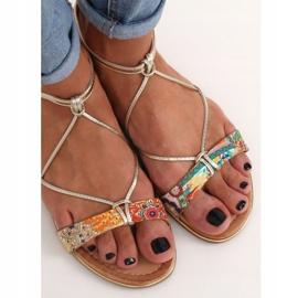 Orange women's sandals JH125P Orange multicolored 3