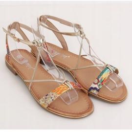 Orange women's sandals JH125P Orange multicolored 1