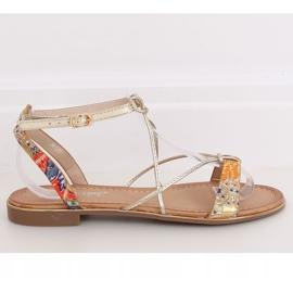 Orange women's sandals JH125P Orange multicolored 2