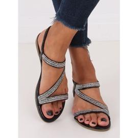 Sandals asymmetrical black KM-33 Black 3