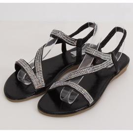 Sandals asymmetrical black KM-33 Black 1